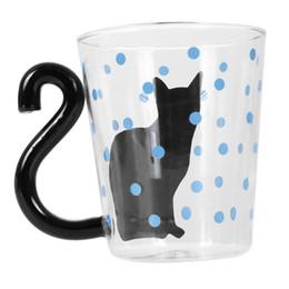 2019 canecas vaquinha Criativo bonito Gato Kitty Caneca De Vidro Copo De Café De Leite desconto canecas vaquinha