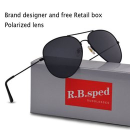 high quality brand sunglasses polarized Coupons - Free shipping High Quality Brand Designer Polarized Sunglasses Male Driving glasses Fashion Men Sunglasses Eyewear With Box and Case