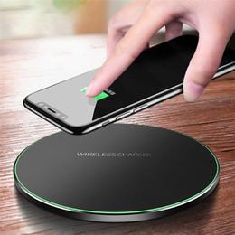 2019 mobile marken preis Qi wireless-ladegerät für iphone 7 8 plus x xr xs max 10 watt schnelles drahtloses aufladen für airpods samsung s9 usb-ladegerät pad
