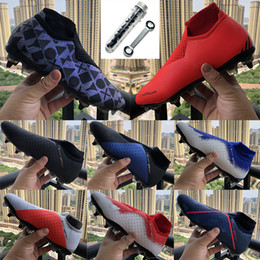 chaussures à crampons de football Promotion Phantom Vision Elite VSN DF SG extérieur gazon EA Sports Football Crampons Spikes en acier Hommes Knit Waterpoof fantôme Fully Charged Fly chaussures de soccer