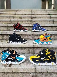 2019 детская обувь hello kitty 2019 новый Barrage Mid QS мужские / женские / детские баскетбольные кроссовки молодежные Barrage Mid Raptors Черный Белый Красный Желтый Синий Большой мальчик Спортивные кроссовки