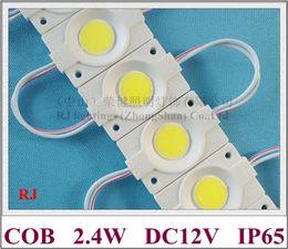 Runde pcb geführt online-Rundes COB LED-Modul Licht LED-Rücklicht DC12V 2,4 W COB IP65 CE ROHS 46 mm (L) * 30 mm (B) * 3 mm (H) Aluminium-PCB hochglänzend 3 Jahre Garantie