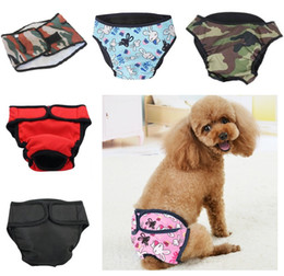 Culottes menstruation en Ligne-Dog Pet durable Pantalons Physiological couches Sanitary Femme Homme Chien Shorts culottes lavables Menstruation Slips Sous-vêtements Jumpsuit