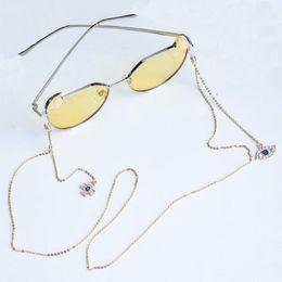 Óculos do mal on-line-Retro Womens Pingente de Cadeia de Óculos Rhinstone Evil Eye Óculos De Sol Óculos de Leitura Cadeia Eyewears Cord Titular Pescoço Cinta Corda