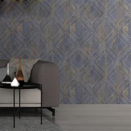 Papel de parede reunido de época on-line-3D reunindo em relevo diamante geometria papel de parede vintage decoração grande fundo TV qualidade Sofá bar parede projeto café da loja do hotel