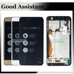 Argentina Para Lenovo Vibe K5 A6020l37 A6020l36 A6020a40 K5 Plus A6020a46 Pantalla LCD de Limon 3 + Ensamblaje de digitalizador de pantalla táctil con marco cheap lenovo lemon Suministro