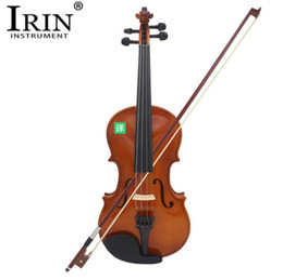 2019 instrumentos de bordo IRIN 4/4 Full Size Violino Acústico Violino Violino Artesanato Violino Com Caso Mudo Arco Cordas 4-String Instrumento Para Beiginner instrumentos de bordo barato