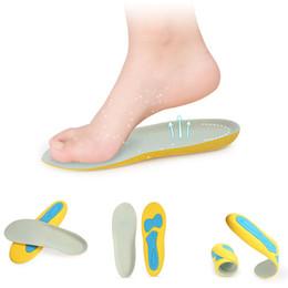 Espuma de memória palmilhas de salto alto on-line-Espuma alta Memória Orthotic Arch Palmilhas Almofadas Sapato Foot Heel Almofada Pain ReliefFeet Almofada Pads Cuidado Palmilhas Sports Usando