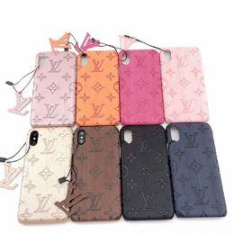caso moomin Rebajas Diseñador al por mayor Caso de Iphone para IPhoneX / XS XR XSMAX IPhone7 / 8plus IPhone7 / 8 6 / 6s 6 / 6sP Casos de moda con letras de marca 8 estilos