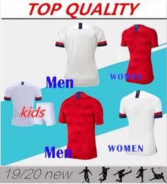 Miúdos de futebol dos eua on-line-Homens + crianças 2019 copa do mundo camisa de futebol da américa estados unidos camisa 19 20 EUA PULÍSTICO LLOYD KRIEGER mulher uniforme de futebol