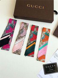 Deutschland New Luxury Designer hochwertige nachgeahmte Seide Stoffband Multifunktionale Kopftuch Fliege Haarband HandtascheNew Print Handle Bag Ribbo Versorgung
