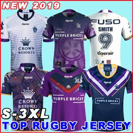 pullover di tempesta Sconti MELBOURNE STORM rugby Jersey 2019 indigena commemorativa Jersey 2019 NRL Rugby League maglie in Australia Rugby League Jersey formato S-3XL