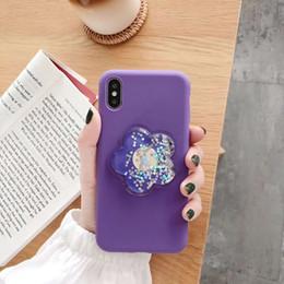 2019 корейские футляры для телефонов YunRT Корея милый 3D цветок жидкий блеск мягкий ТПУ силиконовый чехол для iphone 6 6S 7 8 plus X XS XR Mautx Anti fall phone Couqe скидка корейские футляры для телефонов