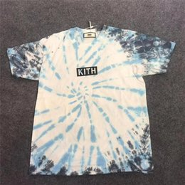 tie dyed tee shirts Promo Codes - 19SS Tie dyeing KITH T -shirt Men Women O-Neck Tie dyeing KITH T Shirts KITH Top Tees