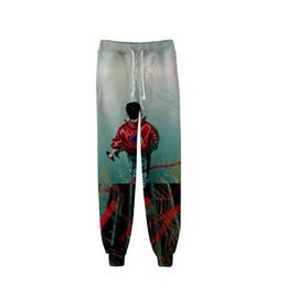 Calças homens rap on-line-Rap homem cantor lógica calças 3D calças esportivas de alta qualidade calças moda tendência popular confortável casual