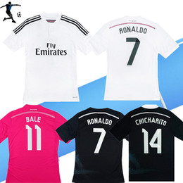Camicie dragon cinesi online-2014/15 Casa Away Shirt Ronaldo Chicharito Benzema Bale ISCO James Retro calcio Jersey 14 15 Camicia da calcio nera Drago cinese