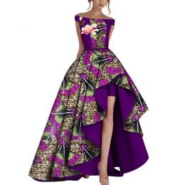 2019 vêtements bazin riche africains Robes De Soirée D'hiver Femmes Dashiki Africa Imprimer Cire Vêtements Africains Bazin Riche Afrique Robe Sexy Pour Les Femmes WY3505 vêtements bazin riche africains pas cher