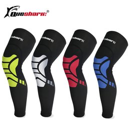 legging compression Promo Codes - 1Pc Compression Basketball Sport Cycling Legging Knee Pad Football Calf Leg Sleeve Knee Support Running warmers