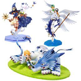 digimon figuras Desconto Digimon Aventura Monstros Digitais Yamato Figura Angemon Wizarmon Anime Dos Desenhos Animados Toy Pvc Action Figure Modelo Boneca de Presente 13-22 cm Y190604