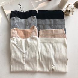 2019 spitze thermische unterwäsche Frauen Thermal Set Thermal Shirt für Frauen passt Spitze V-Ausschnitt Baumwolle Unterwäsche für Winter 2018 elastische schwarz Set günstig spitze thermische unterwäsche