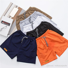 mens orange swim shorts Promo Codes - Mens Shorts Swim Boxer mens designer shorts Swimwear Trunks Boardshorts Beachwear Short Plus Size Swimsuit DH144