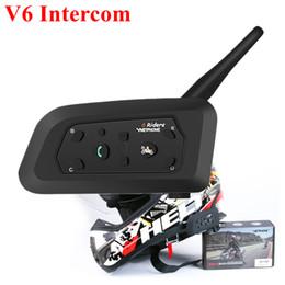 Helm Intercom 1200m Drahtlose Bluetooth Motorrad Walkie Talkie Multifunktions Intercomunicador Moto Interphone für 6 Fahrer von Fabrikanten