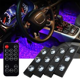 2019 acessórios de música para carro Interior do carro Pé Luz USB LEVOU Atmosfera Ambiental Lâmpadas Estreladas DJ Mix Música Colorida Controle de Som Lâmpada A Laser Auto Acessórios acessórios de música para carro barato