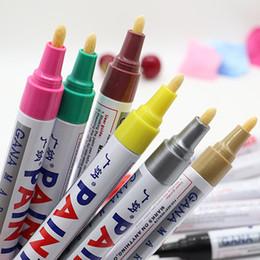 2019 marcadores táctiles Marcador permanente de pintura para automóvil Bolígrafo Pisada de goma Caucho Metal Acces Colores Auto Abrigo para automóvil Pintura Pluma Retoque Rasguño Reparación clara # 8! rebajas marcadores táctiles