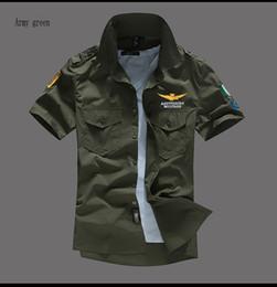 MARCA de verão Nova NASA Piloto de Vôo dos homens de manga curta camisa MA-1 camisas casuais Bordado Asstseries Militare Para camisas Dos Homens 5 cores de