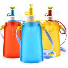water bottle for kids wholesale Coupons - Silicone Drinking Bottles For Kids Outdoor Sports Water Bottles Foldable Drinking Kettle Travel Outdoor Drinking Cup