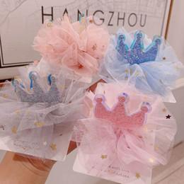 pince à cheveux couronne de dentelle Promotion Pinces à cheveux en dentelle coréenne glisten filles florales enfants barrettes princesse couronne filles BB clips enfants accessoires pour cheveux designer cheveux A5564
