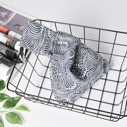 Модные мужские сумки онлайн-Женщины с ручкой запястье Сумка моды Пикник хлопок белье обед мешок Tote Мини Портативный Чувствительная Малый полоской Японский стиль