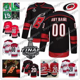 fbf2f89dba6 Carolina Hurricanes 2019 Stanley Cup New Brand Custom Any Number Name  Stitched Black White Red Green Hockey Jersey #20 Sebastian Aho