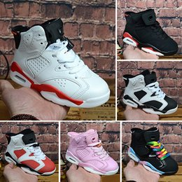 low priced 44553 a9a65 Nike Air Jordan 6 Big Boy Schuhe Kids 7s Classic 6 reine Geld  Basketball-Schuhe Mädchen Männer Frauen Turnschuhe alle weißen High Top  Sportschuhe Michael ...