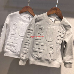 Sudadera con capucha con estampado de letras con capucha para niños y niñas sudadera con capucha de algodón de otoño19 desde fabricantes