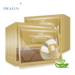 Hochwertige augenflecken online-2019 neue Beauty Makeup Augenpflege Hohe Qualität Weißer Kristall Kollagen Augenmaske Hotsale Augenklappen