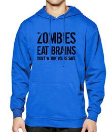 64e62f363e3 Zombies Mangez Cerveaux Lettre Imprimer 2019 Printemps Sweat À Capuche  Hommes Sweat-shirts Hiver Polaire Sportif Porter À Capuche Hip Hop  Streetwear Hoodies ...