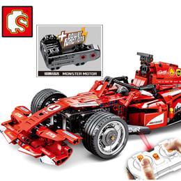2019 control remoto f1 DHL 701000 585 Unids técnica F1 coche de carreras Compatible MOC legoinglys Control Remoto RC Modelo eléctrico de velocidad juguetes de construcción control remoto f1 baratos