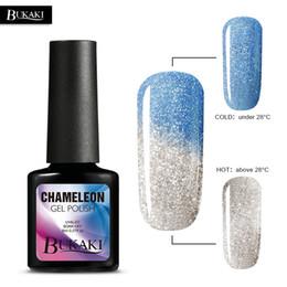 changement de couleur vernis à ongles Promotion Bleu DIY Gel de vernis à ongles Température Caméléon UV Gel Thermique Laque Nail Art Polonais Changement de Couleur Lak