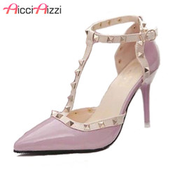 c88a286e269 Dress Shoes Aicciaizzi Hot Women Pumps Ladies Sexy Pointed Toe High Heels  Fashion Buckle Ankle Strap High Heel Sandals Size 34-40