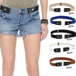 Vita invisibile online-Donna regolabile elastico della cinghia di vita degli uomini di modo nessun inarcamento Elasticizzato Vita con il cinturino invisibile per i jeans pantaloni Abiti da regalo TTA1882-4