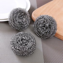 limpiadores de esponja Rebajas Platos de cocina sartenes bolas de limpieza electrodomésticos 20pcs alambre de zinc alto y bola de limpieza de alambre de acero