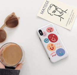 2019 projetos da tampa móvel para meninas Rosto feliz dos desenhos animados tpu phone case bonito menina colorido design mobile phone case capa para iphone 7 8 plus xr x max projetos da tampa móvel para meninas barato