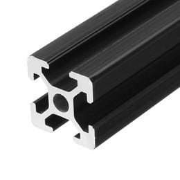 Canada Cadre en aluminium d'extrusion de profils de 2020 en aluminium anodisé par noir de longueur de 500mm pour la commande numérique par ordinateur Offre