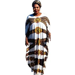 2019 figures africaines Robes africaines Dashiki Robes africaines pour femmes Bazin Riche Ankara Imprimer Figure Robes Longues Femmes Vêtements Robe ample promotion figures africaines
