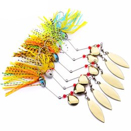 spinner bait bass fishing lure Promo Codes - lure 6 Pcs Assorted Fishing Tackle Spoon Sequins Lures Buzz Bait Perch Bass lure spinner