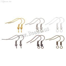 Pesce ciondola metallo ferro orecchino fermagli ganci leva posteriore orecchino fili raccordi fai da te per regali femminili risultati dei monili accessori cheap fish hook jewelry clasp da chiusura lampo gioielli del gancio di pesce fornitori