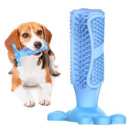 Escova Escova De Dente Escova de Brinquedo do cão Escova de Dente Eficaz para Cães Animais de Estimação Oral Care Dog Escova Vara Brinquedos para Cães Limpeza Dos Dentes de