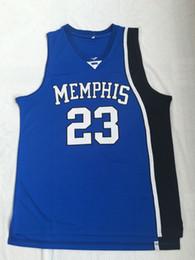 Envío de la gota nueva jersey online-Calidad superior 2019 NUEVO 23 ROSA camiseta de baloncesto MEMPHIS negro azul para hombres envío gratis escuela secundaria envío