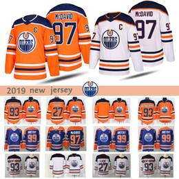 jogador de hockey Desconto Homens Edmonton Oilers Jogadores 97 Connor McDavid 93 Ryan Nugent-Hopkins 27 Milan Lucic 2018-2019 novas camisola do hóquei